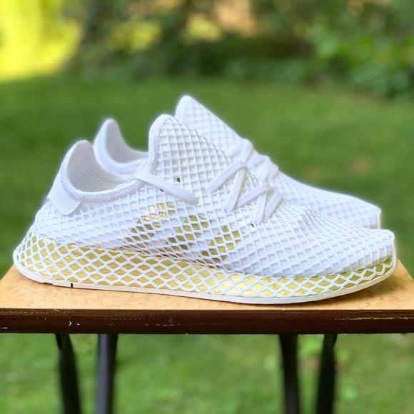 Adidas Deerupt Runner White Gold Womens